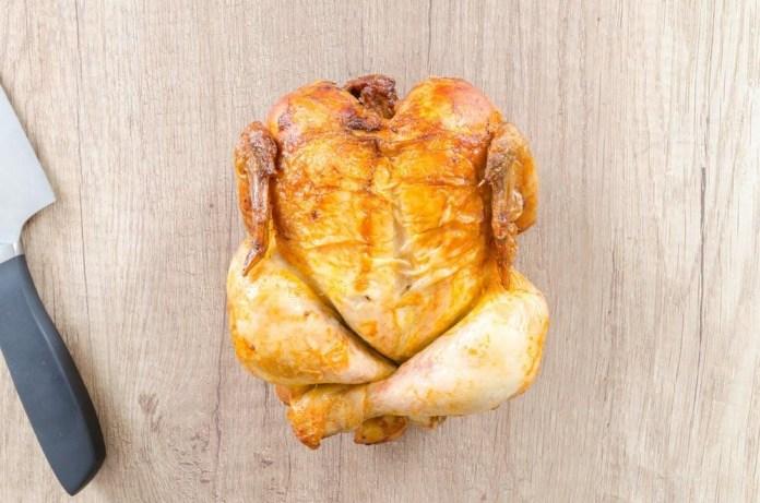 Roast a chicken.How to brine a whole chicken-wet brine method