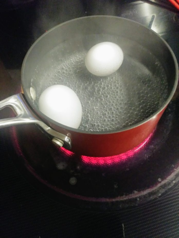 Instructions for cooking the eggs