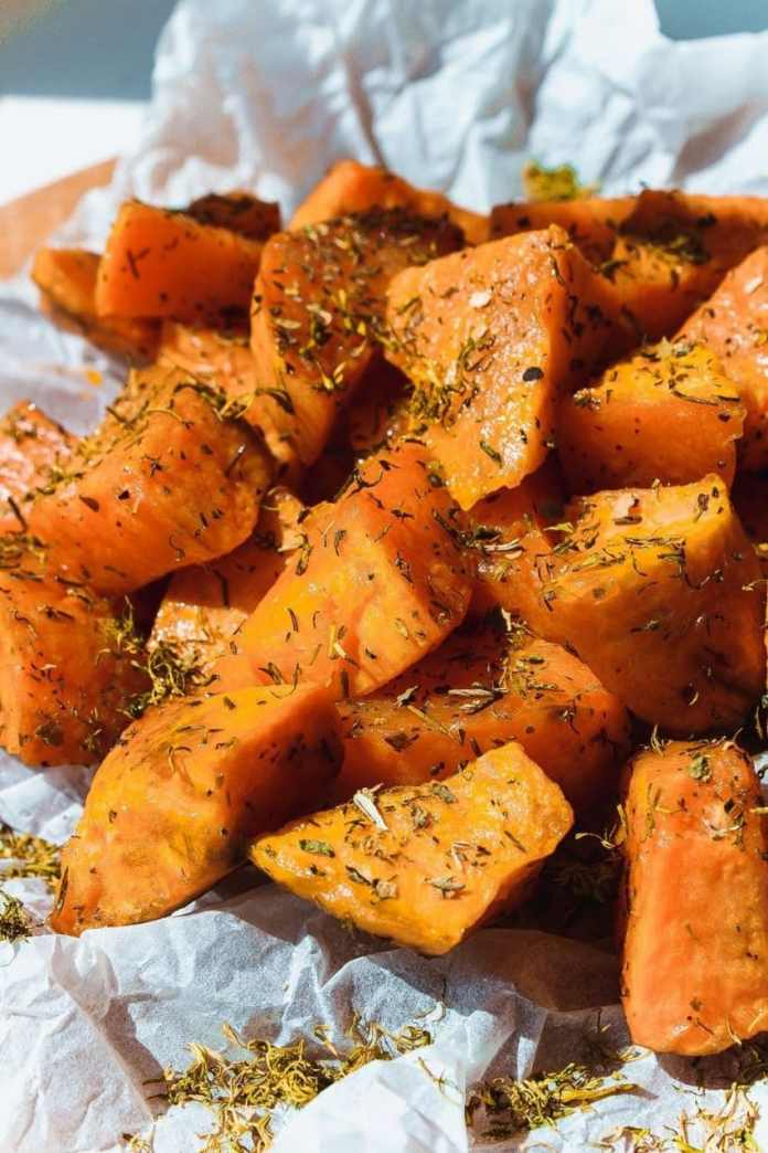 Southwest Chipotle Baked Sweet Potato Chips
