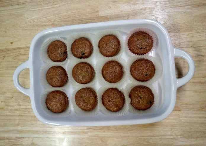 Banana berry breakfast muffins
