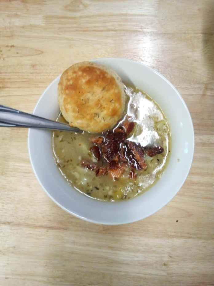 Mama's leek and potato soup from scratch