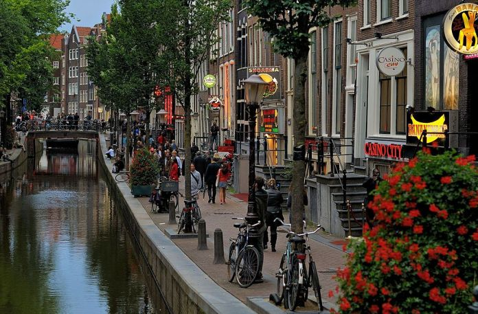 Red light district of Amsterdam by day. 2012