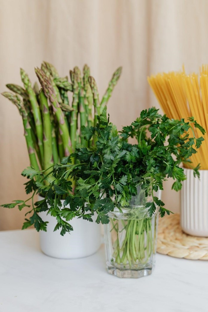 Asparagus Goat Cheese Pasta Salad