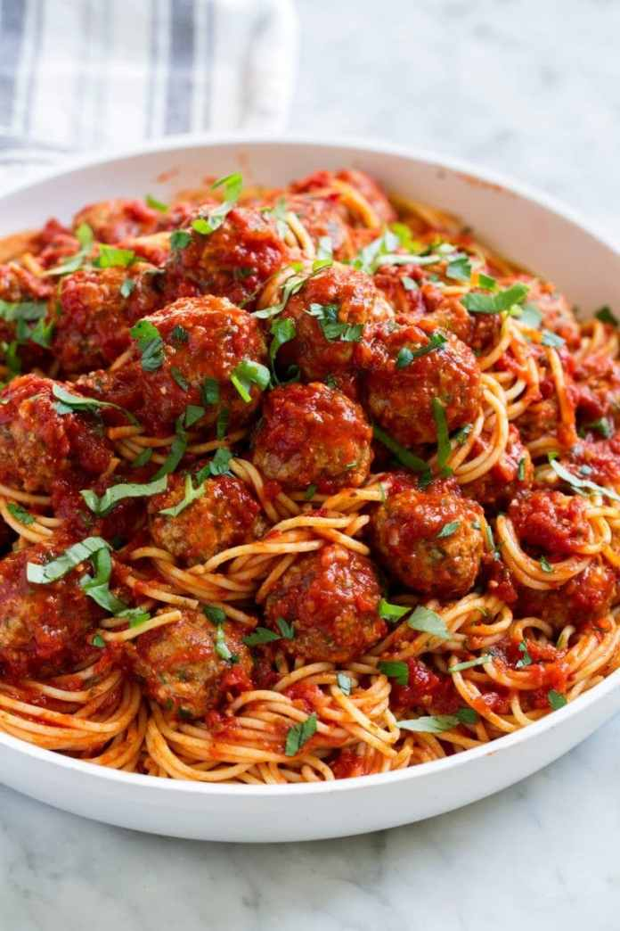 Homemade Recipe For Pasta And Meatballs