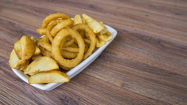 Love greasy take out?Mom's onion rings.
