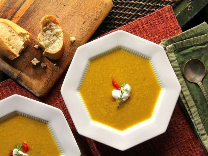 Summer Corn and Carrot Soup