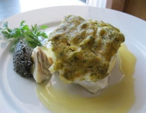 Cod Fillet with Herb Crust and Tapenade