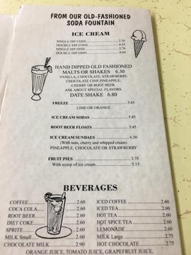 Keedys menu