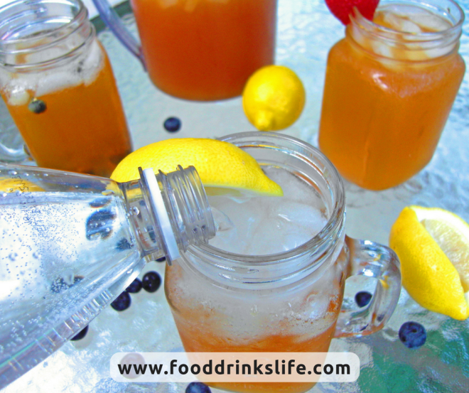 Sparkling Iced Tea Pour | Food Drinks Life
