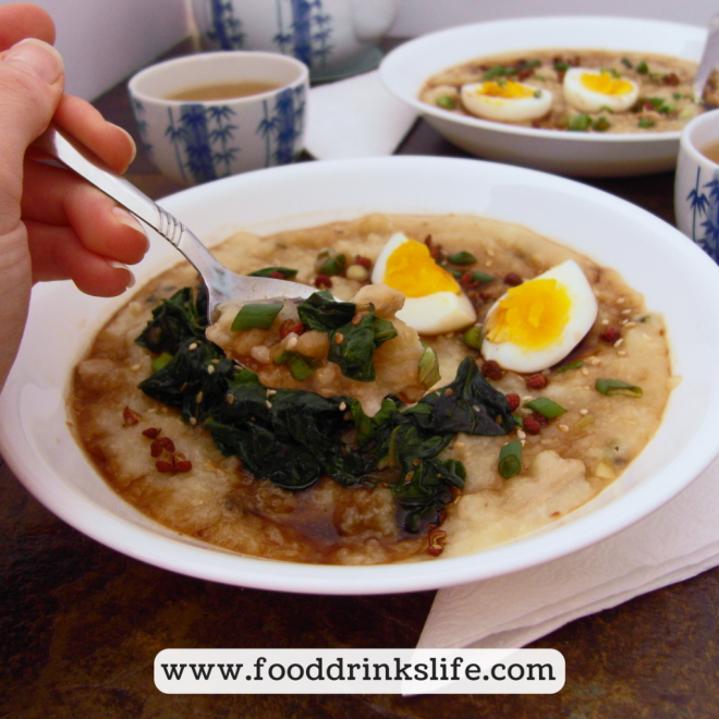 Chicken Ginger Congee: Great for a Flu or Cold | Food Drinks Life