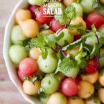Mint & Melon Salad  Read more – www.stylemepretty…