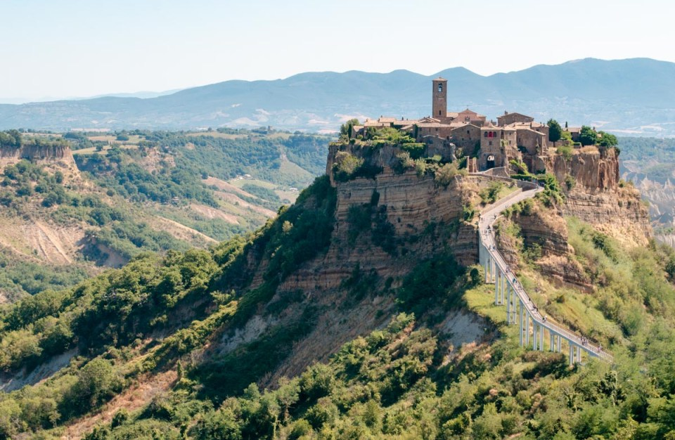 Civita di Bagnoregio dal ticket office