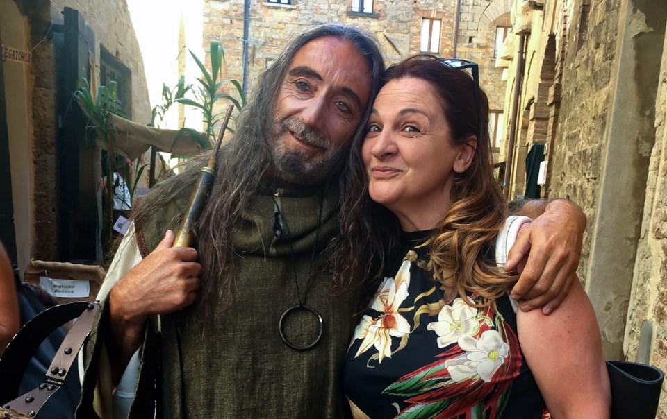 Raffaella insieme a Petronio