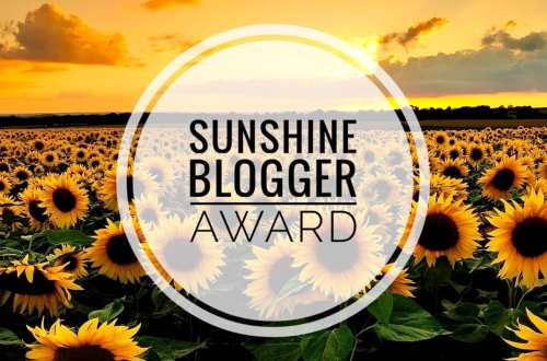 Sunshine Blogger Awards 2020