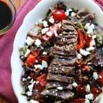 Grilled Balsamic Steak Salad- FoodFaithFitness