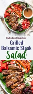 Balsamic Steak Salada Collage photo