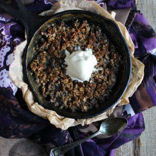 Plum Rhubarb Cobbler {Gluten Free} - FoodFaithFitness