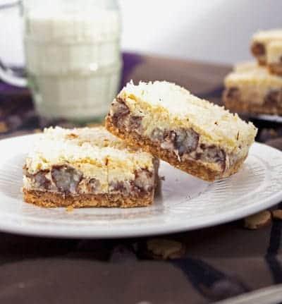Skinny Almond Joy Cheesecake Bar {GF} - Food Faith Fitness