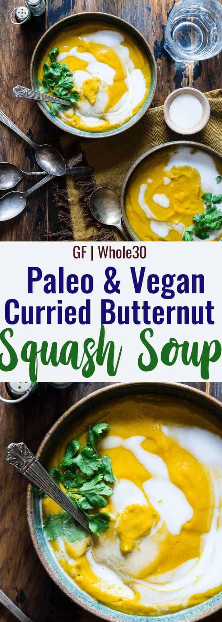 Paleo Butternut Squash Soup collage photo