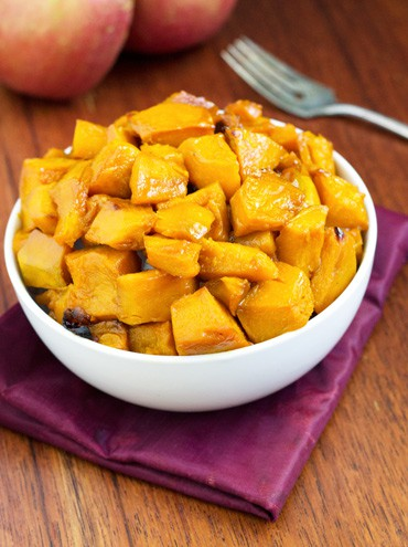 Roasted Kabocha Squash With Apple Cider Glaze {Gluten free, Low Fat & Vegetarian} - Food Faith Fitness