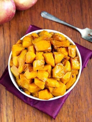 Roasted Kabocha Squash With Apple Cider Glaze {Gluten free, Low Fat & Vegetarian} - Food Faith Fitness