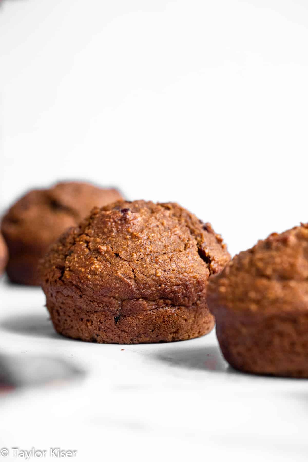 gluten free pumpkin oatmeal muffins on a table