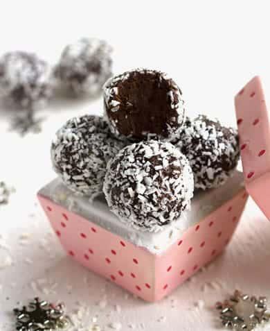 Almond Joy Avocado Truffles - {Gluten Free, No Sugar Added, High Protein & Low Fat}