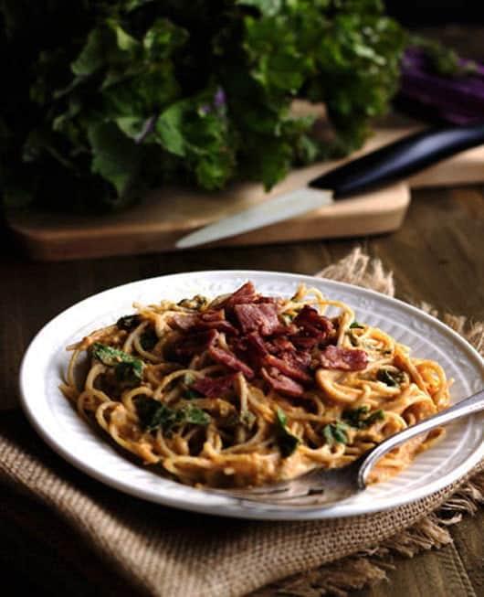 Gluten Free Cheesy Pumpkin Pasta - Food Faith Fitness