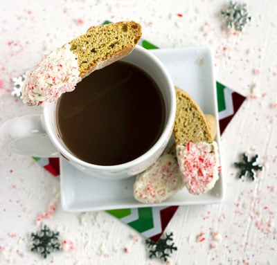 White Chocolate Peppermint Biscotti {Whole Wheat, Low Calorie/Fat & Zero Butter} - Food Faith Fitness