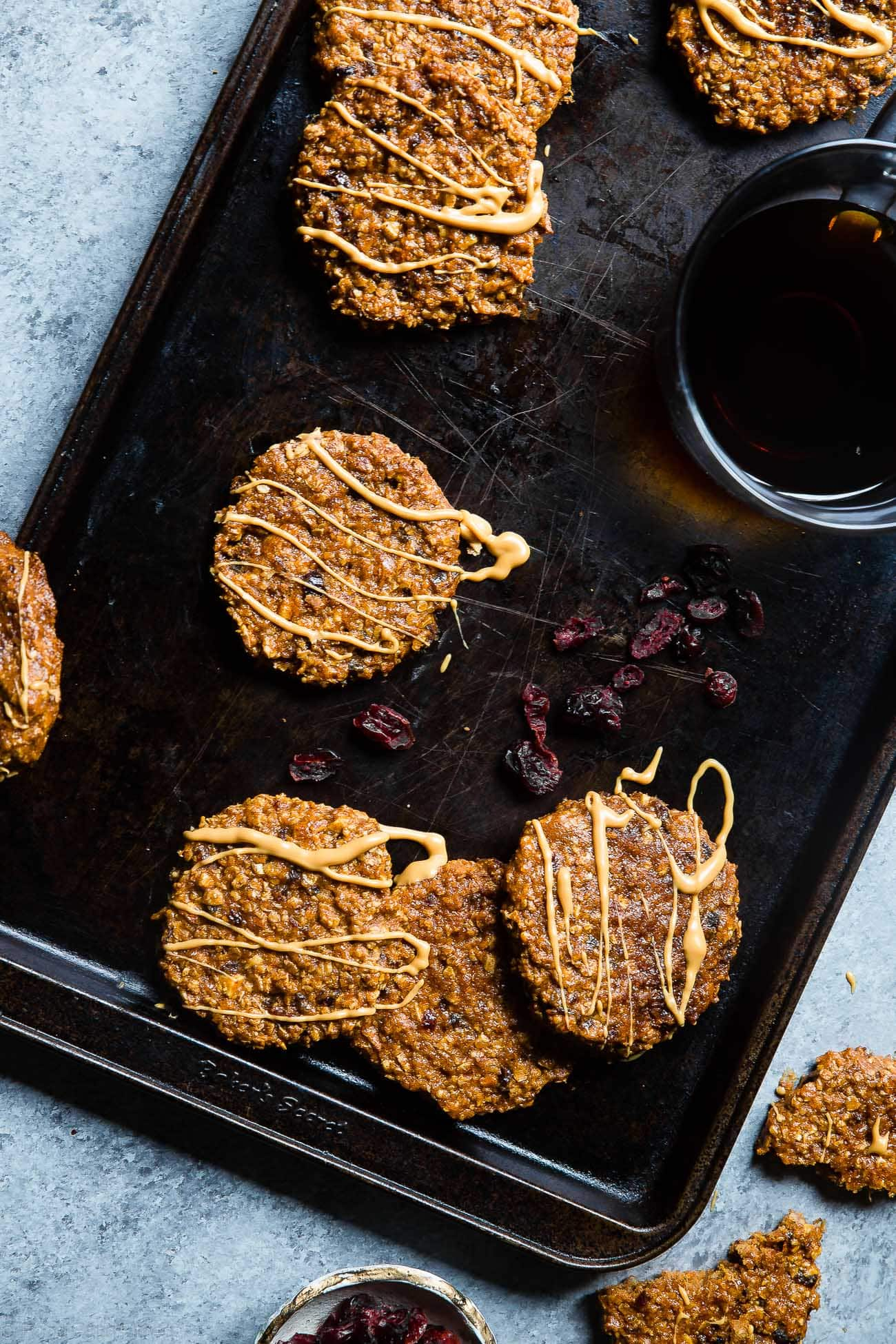 Vegan Almond Cranberry Oatmeal Breakfast Cookies - Made extra nourishing with sweet potato and almond butter! An easy, healthy and dairy/gluten free breakfast for on the go! | Foodfaithfitness.com | @FoodFaithFit