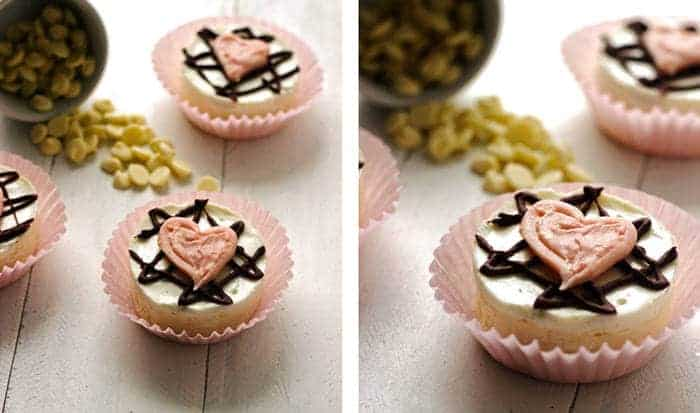 Skinny Mini White Chocolate Cheesecakes {Gluten Free + Low fat} - Food Faith Fitness