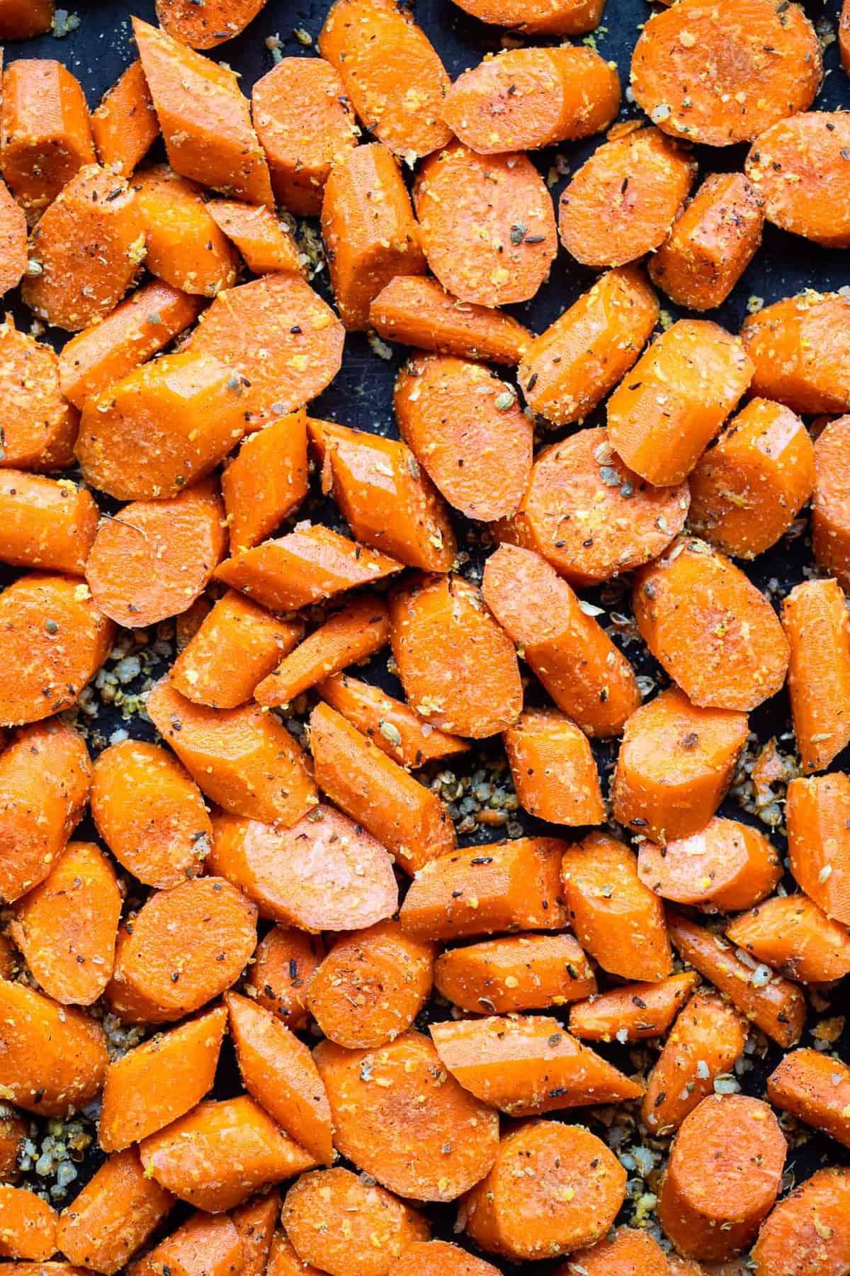 making cumin roasted carrots