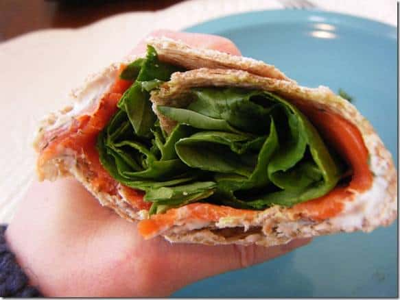 Smoked Salmon and Dill Wrap - Fannetastic Food