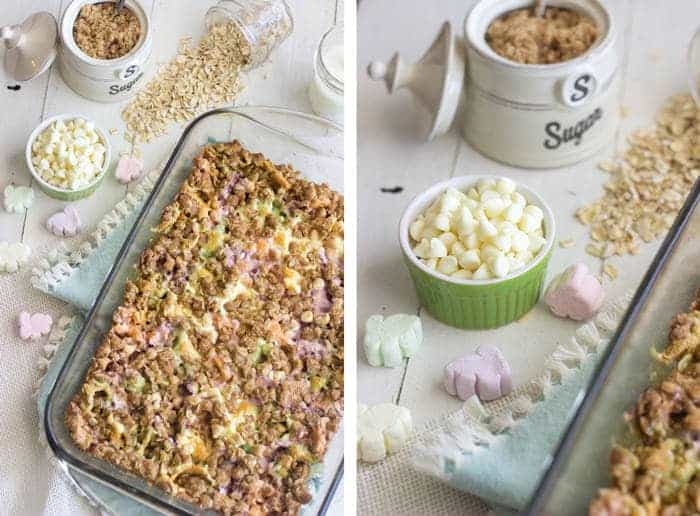 Easter Chocolate Oat Square {Butter Free + Super Simple} - Food Faith Fitness