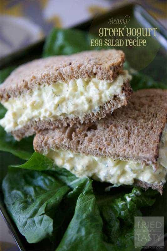 Creamy Greek Yogurt Egg Salad - Tried and Tasty