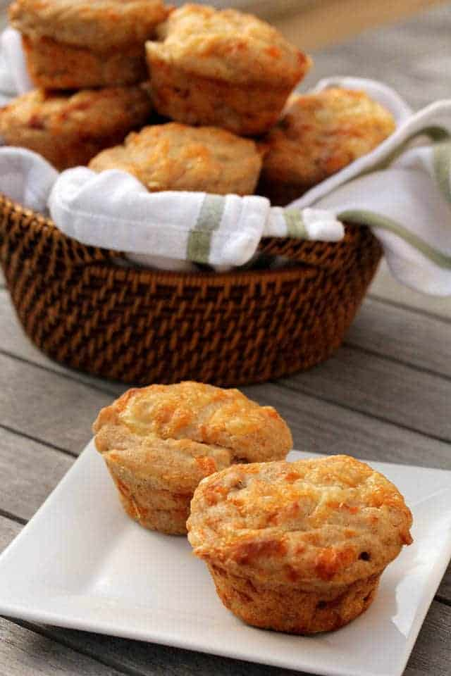 Ham and Cheese Rye Muffins - Karen's Kitchen Stories