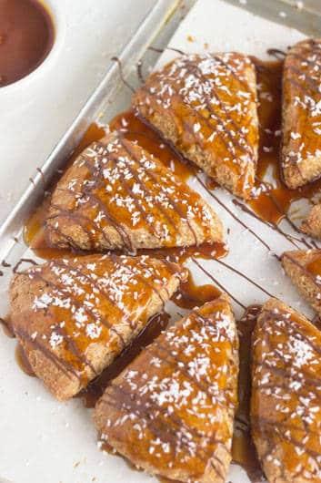 Samoa Scones {Whole Wheat + Butter Free} - Food Faith Fitness