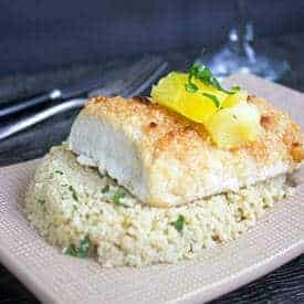 Paleo Macadamia Crusted Mahi Mahi - Food Faith Fitness
