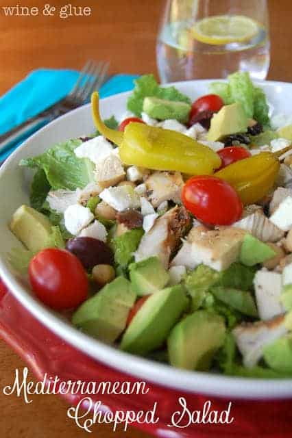 Mediterranean Chopped Salad - Wine and Glue