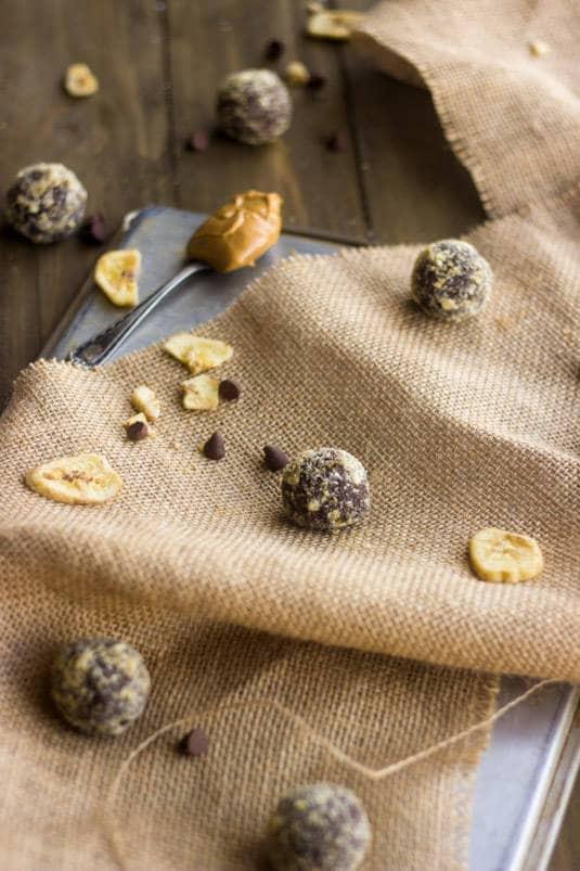 Chocolate Peanut Butter Banana Protein Truffles - Food Faith Fitness