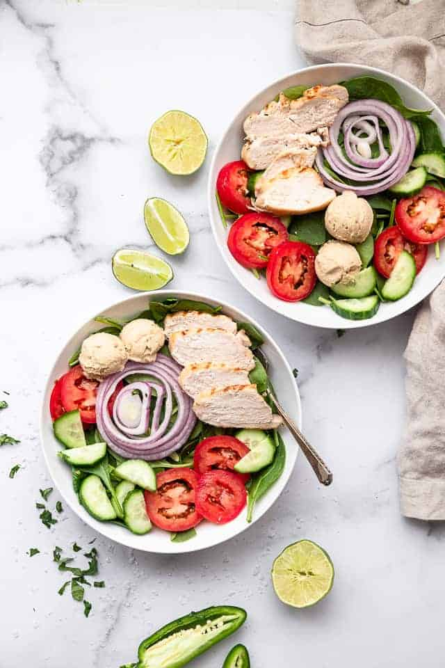 High Protein Hummus Chicken Salad