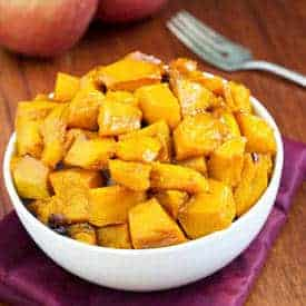 Roasted Kabocha with Apple Cider Glaze