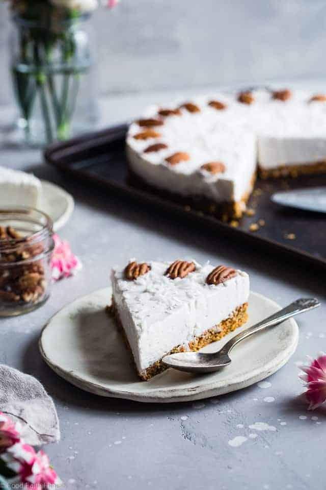 Gluten Free Dairy Free Carrot Cake Cheesecake
