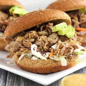 Slow Cooker Chipotle Pulled Pork Sandwiches