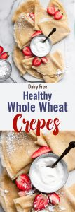 Healthy Whole Wheat Crepes