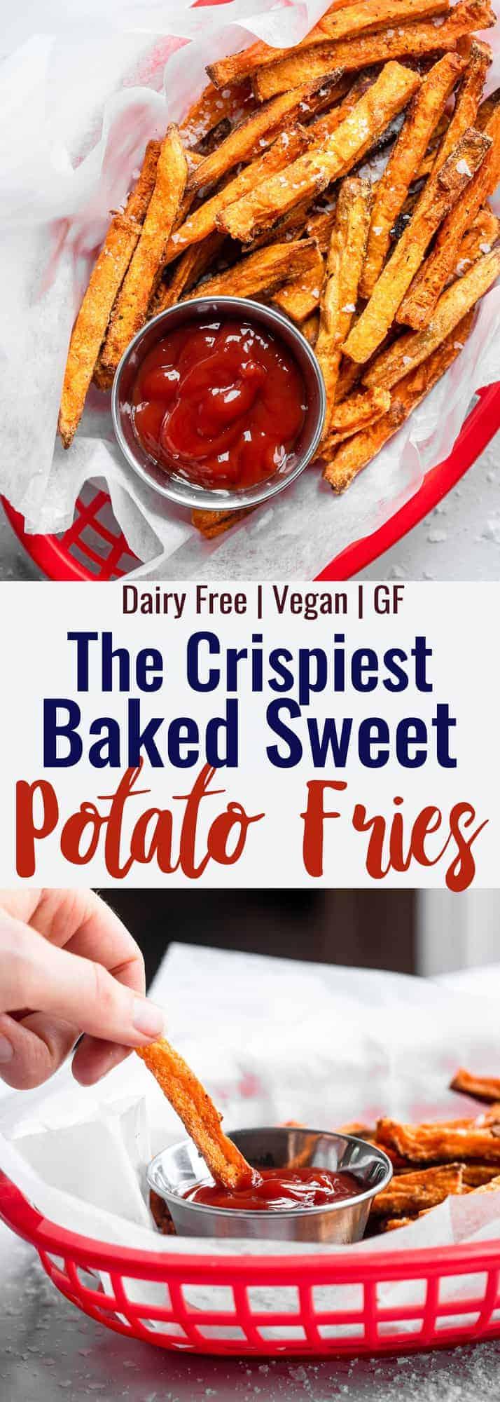 baked sweet potato fries collage photo