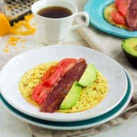 Bacon, Avocado and Tomato Egg Wrap