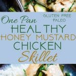 Easy Honey Mustard Chicken Skillet -  This paleo friendly chicken skillet is quick, easy and healthy! It's kid-friendly, 30 minute meal that makes great leftovers and perfect for busy weeknights! | Foodfaithfitness.com | @FoodFaithFit