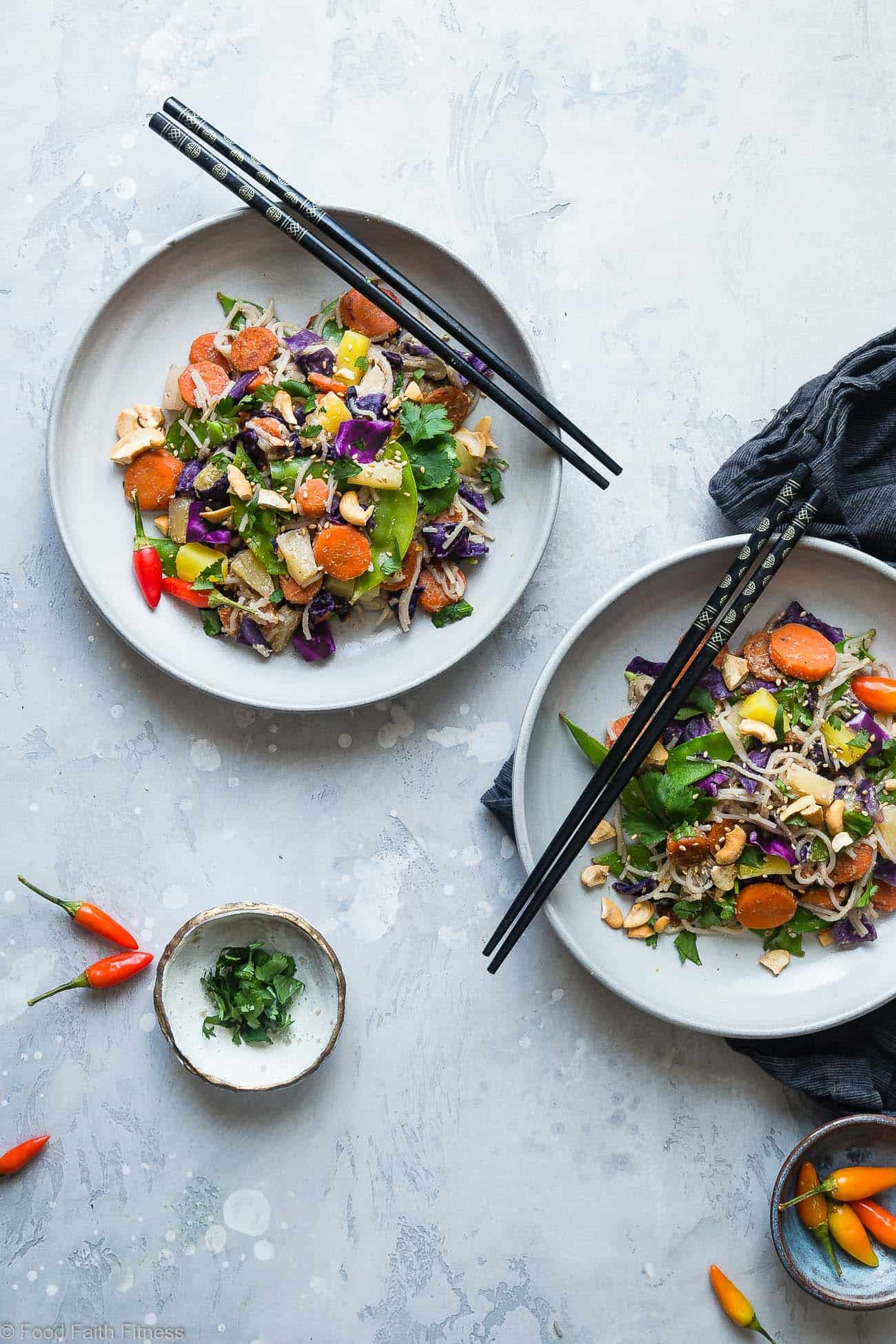 """Vegan """"Honey"""" Ginger Stir Fry with Cashew Cream - This Easy Healthy Vegetarian Stir Fryis a simple and quick vegan friendly dinner that is LOADED with vegetables and flavor! Even picky eaters will love this simple, dairy and gluten free recipe! 