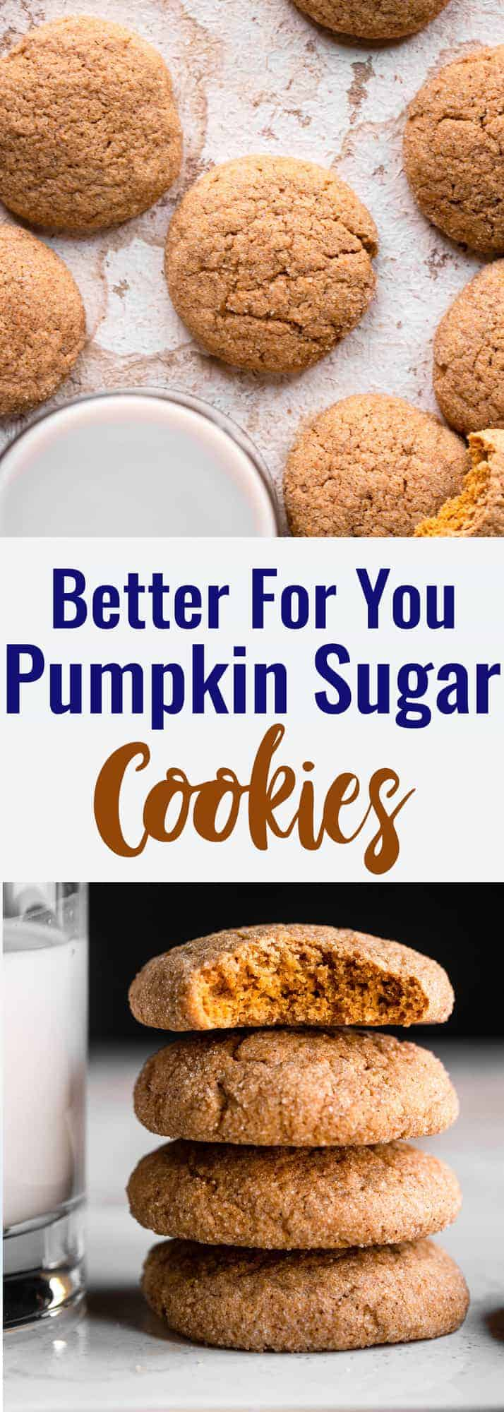pumpkin sugar cookies collage photo